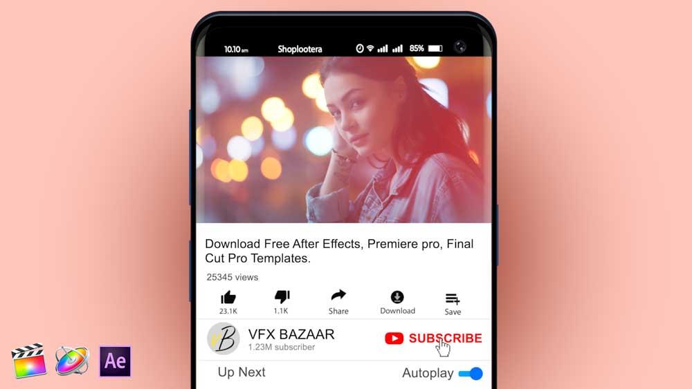 YouTube Mobile Animation V.1 youtube mobile animation